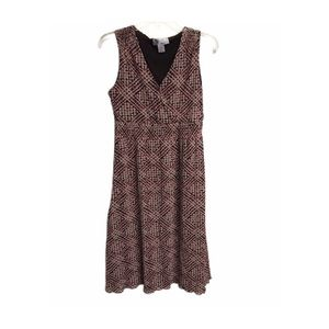 Nine & Co Tan And Red Dress